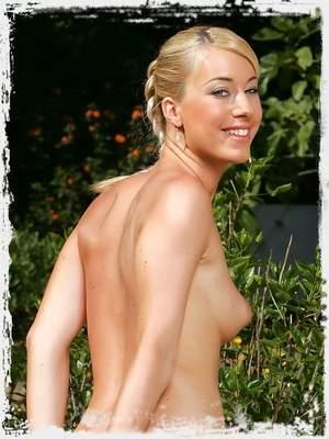 Slim blonde strips and rubs puffy nipples ; Infocus Girls