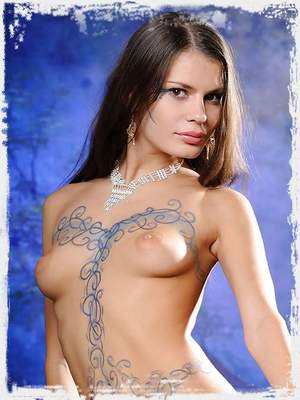 Sexy Salma poses in lovely body art ; Sinful Goddesses