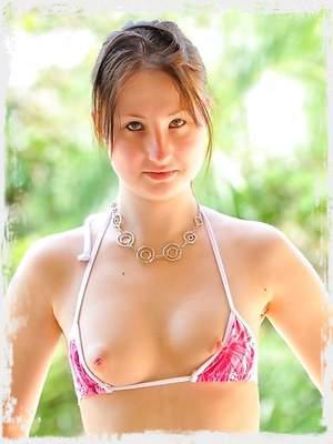 Bikini and hose with Veronika